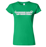 Tシャツ  Everyone Loves An Irish Gir レディス