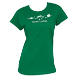 Tシャツ  Irish Yoga St. Patrick's Day レディス