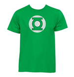 Tシャツ  Green Lantern Distressed Logo Kelly