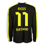 2013-14 Borussia Dortmund Away Long Sleeve Shirt (Reus 11)