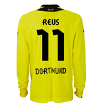 2013-14 Borussia Dortmund Long Sleeve Home Shirt (Reus 11)
