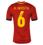 2013-14 Spain Home Shirt (A.Iniesta 6)