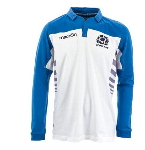 2013-14 Scotland Macron Alternate LS Classic Rugby Shirt