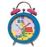 Peppa Pig Blue Alarm Clock