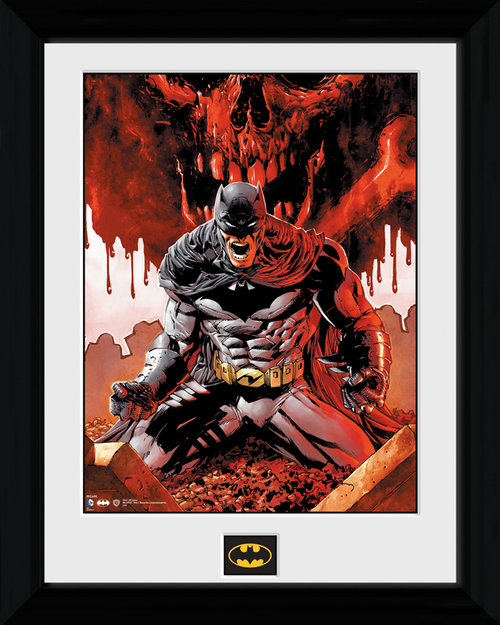 Batman Seeing Red Framed Print