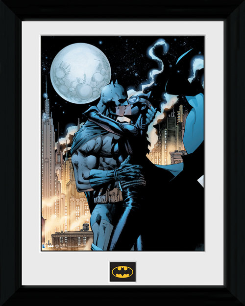 Batman Moonlit Kiss Framed Print