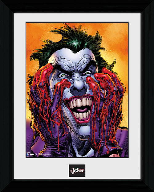 Batman Joker Laugh Framed Print