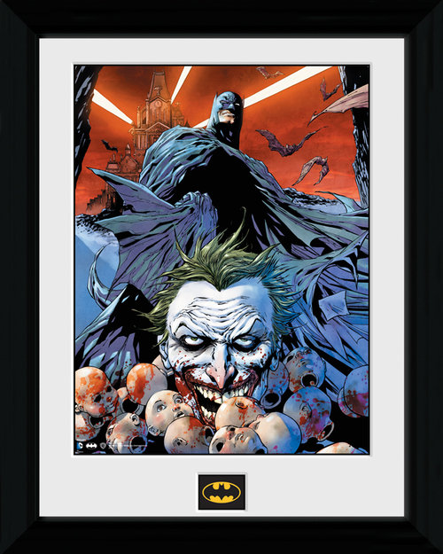 Batman Joker Defeated Framed Print