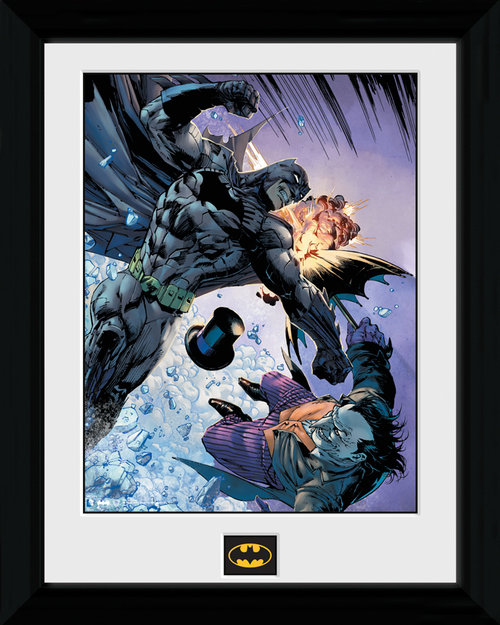 Batman Fist Fight Framed Print