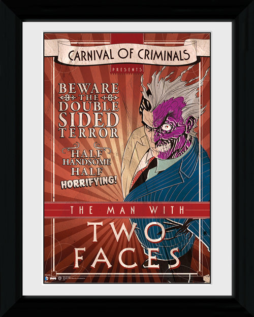 Batman Circus Two Face Framed Print
