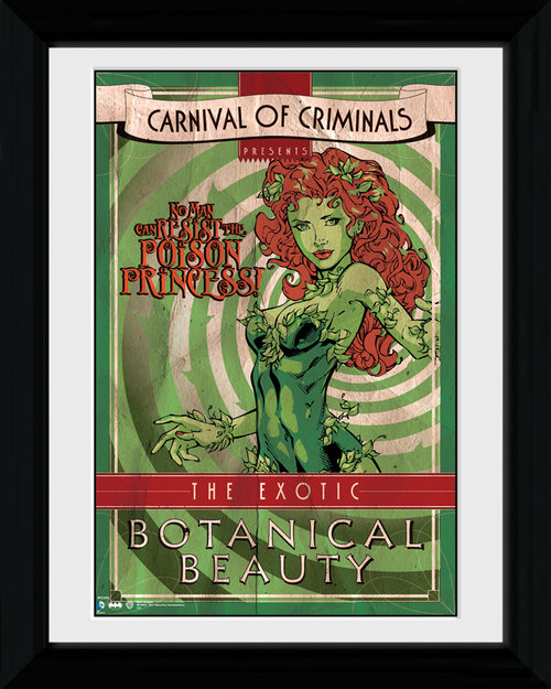 Batman Circus Poison Ivy Framed Print