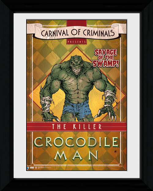 Batman Circus Crocodile Man Framed Print