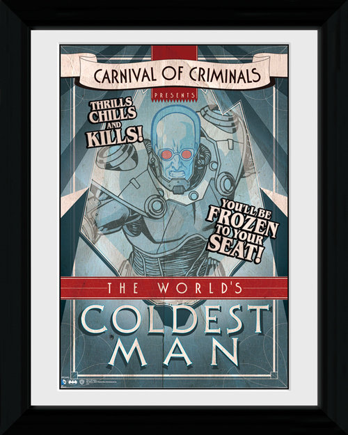 Batman Circus Coldest Man Framed Print