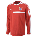 2013-14 Bayern Munich Adidas Sweat Top (Red)