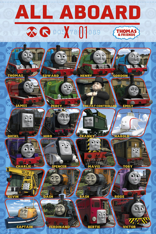 Thomas and Friends Profile Maxi Poster