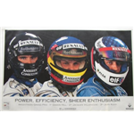 "F1 Memorabilia Renault F1 Poster ""Power, Efficiency ,Enthusiasm"""
