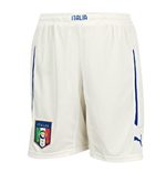 2014-15 Italy Puma Home Shorts (White) - Kids
