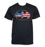 BATMAN American Flag Bat Sign T-Shirt