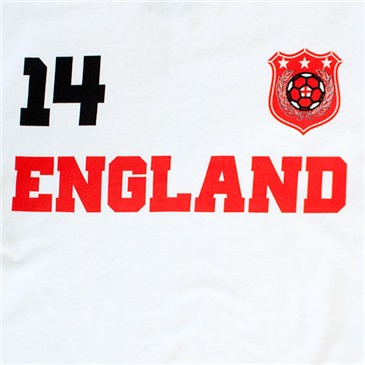 England White WORLD CUP Soccer No. 14 T-Shirt