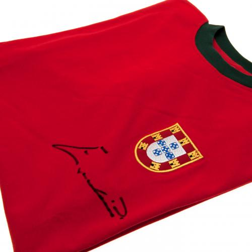 Portugal Eusebio Signed Shirt