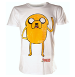 ADVENTURE TIME Jake Waving Extra Large T-Shirt, White
