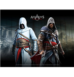 ASSASSIN'S CREED Wallscroll, Altair & Ezio In Blackroom
