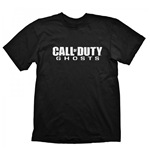 CALL OF DUTY Ghosts Logo Large T-Shirt, Black