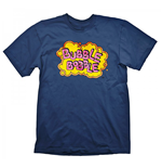 BUBBLE BOBBLE Vintage Logo Large T-Shirt, Blue