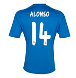 2013-14 Real Madrid Away Shirt (Alonso 14) - Kids