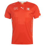 2014-15 Switzerland Home World Cup Football Shirt