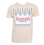 HAMM'S Tan Men's Crown Beer Tee Shirt