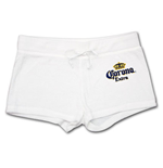 Corona White Terry Women's Shorts