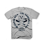 WORMS Baseball Bat Vintage Small T-Shirt, Grey