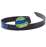 TEENAGE MUTANT NINJA TURTLES (TMNT) Black Belt with Leo Blue 2D Buckle, 85CM