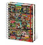 Marvel Comics Notebook A4 Aligned Retro