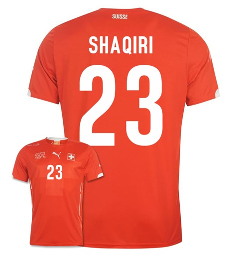 finest selection c05c2 d32af 2014-15 Switzerland World Cup Home Shirt (Shaqiri 23)