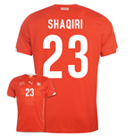 2014-15 Switzerland World Cup Home Shirt (Shaqiri 23)