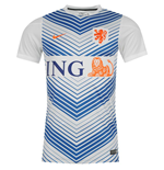 2014-15 Holland Nike Pre-Match Training Jersey (White)