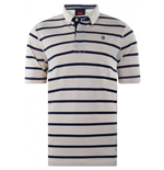 2013-14 England Striped Polo Shirt (Ecru)