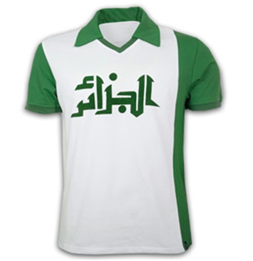Algeria WC 1982 Short Sleeve Retro Shirt 100% cotton