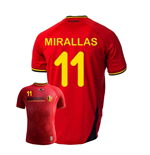 2014-15 Belgium World Cup Home Shirt (Mirallas 11)