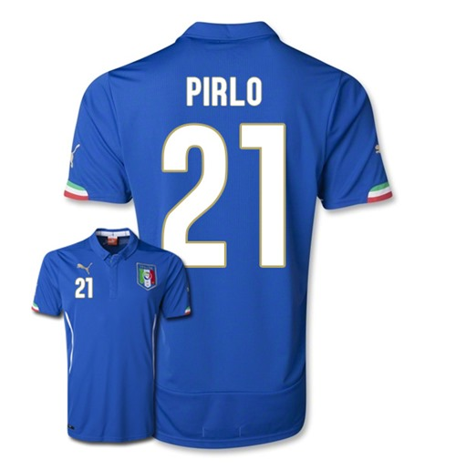 Buy Official 2014-15 Italy World Cup Home Shirt (Pirlo 21) 0356b3b8b
