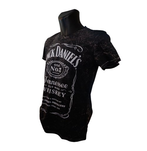 JACK DANIEL'S Classic Acid Washed Large T-Shirt, Black