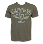 GUINNESS Green Men's St. James Gate Beer Logo Tee Shirt