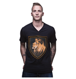 Holland Lion V-Neck T-Shirt // Black 100% cotton