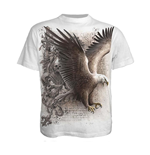 SPIRAL Wings Of Freedom T-Shirt, Short Sleeve, Adult Male, Medium, White