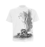 SPIRAL Enslaved Angel T-Shirt, Short Sleeve, Adult Male, Medium, White
