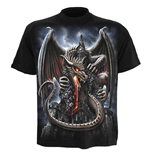 SPIRAL Dragon Lava T-Shirt, Short Sleeve, Adult Male, Medium, Black