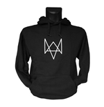 WATCH DOGS Fox Logo Large Hoodie, Black