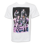 GHOSTBUSTERS Group Shot Men's White Tee Shirt